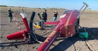 Helicóptero que caiu com 300 kg de cocaína está em nome de policial civil do DF